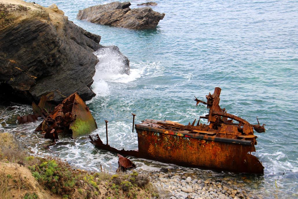 Schiffswrack am Praia do Patacho