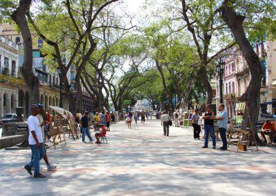 Spazieren am Paseo del Prado