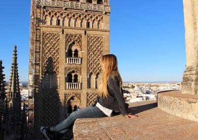Atemberaubende Ausblicke auf dem Dach der Kathedrale in Sevilla