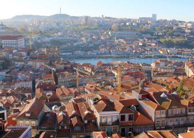 Ausblick auf den Douro vom Torre dos Clérigos