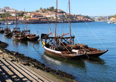 Rabelo heißen diese Boote und wurden früher zum Transport von Weinfässern verwendet.