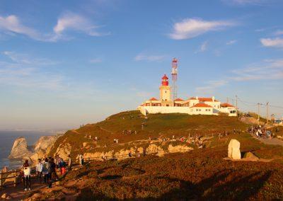 In Cabo da Roca ist bei Sonnenuntergang jede Menge los. Einfach ein bischen spazieren und schon kann man das Spektakel alleine genießen!