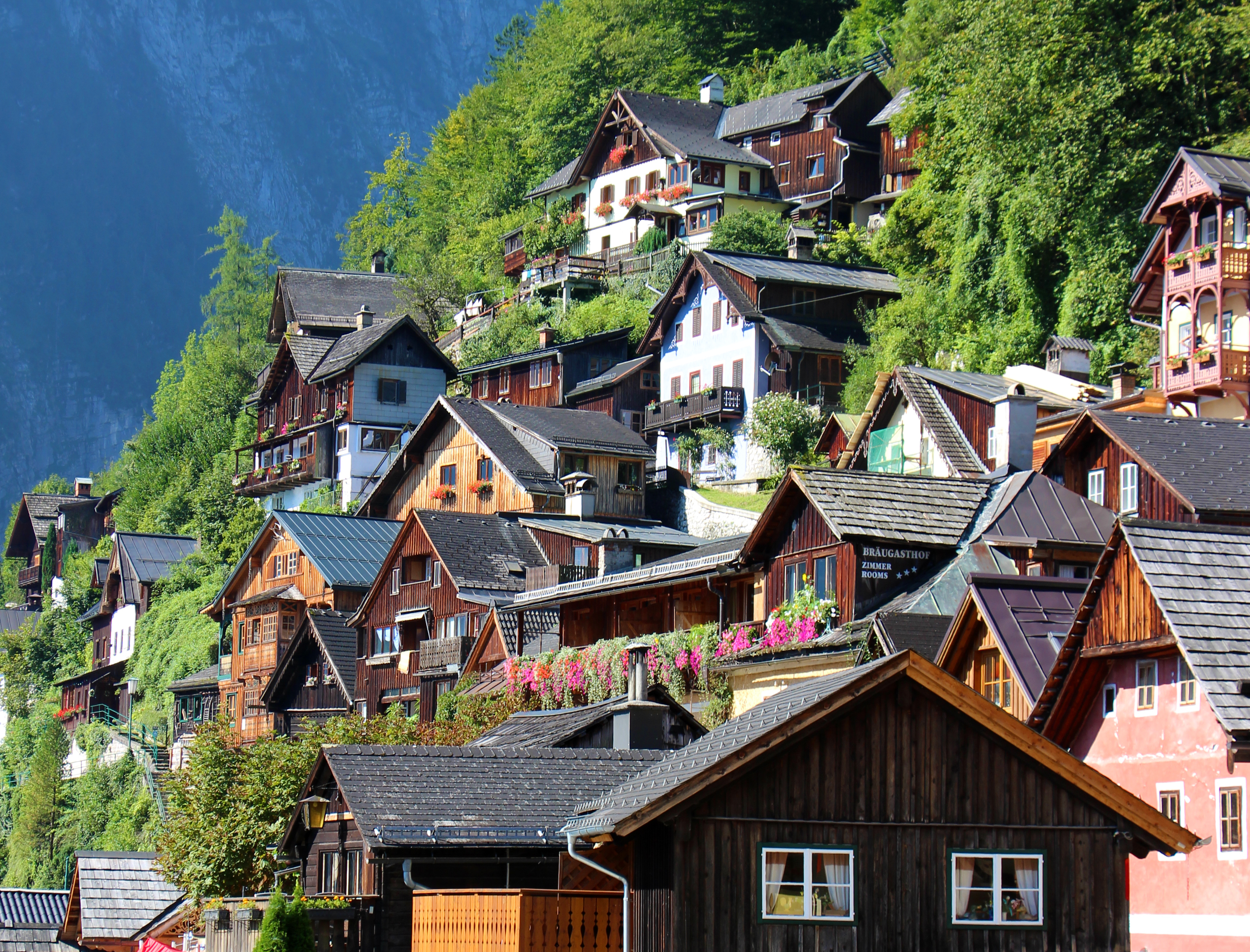 Die wunderschönen Häuser prägen das Stadtbild