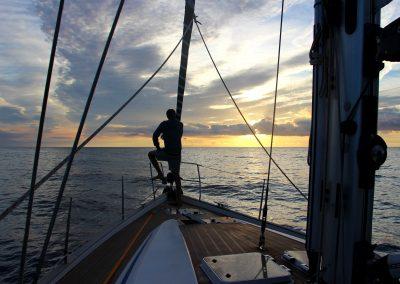 Sonnenaufgang – Überführungstörn Sardinien – Mallorca