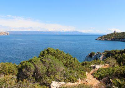 Blick vom Capo Caccia auf Alghero