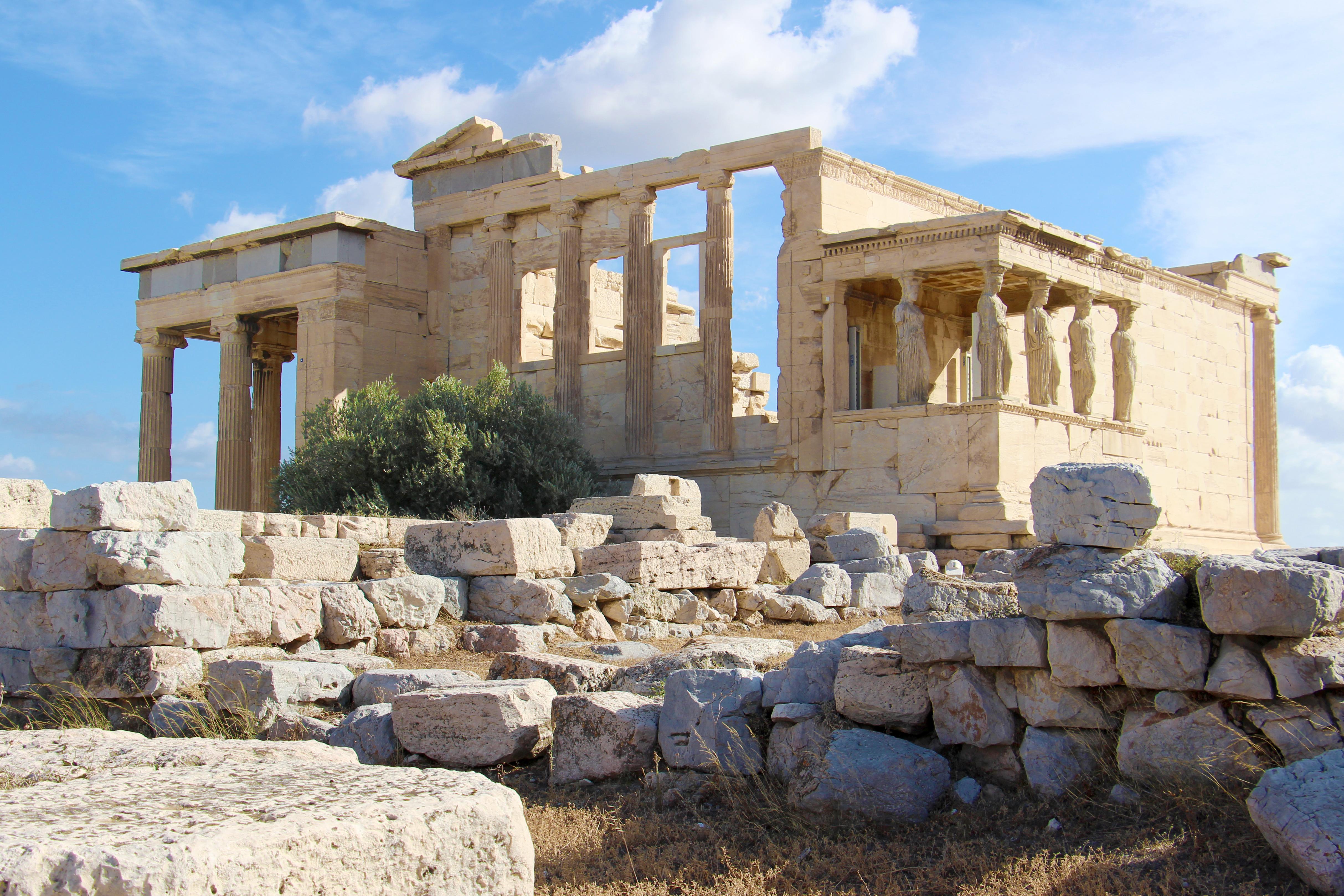 Der alte Athena-Tempel auf der Agropolis